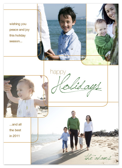 holiday photo cards - Overlapping Modern Squares by Katie Venti