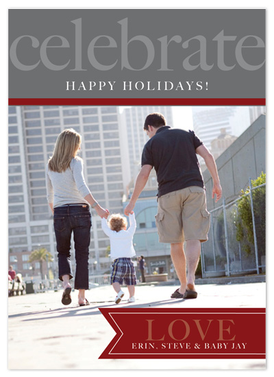 holiday photo cards - Celebrate Love by Oneleven Creative