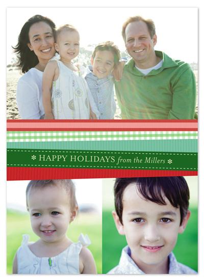 holiday photo cards - Ribbons by Kelly Nasuta