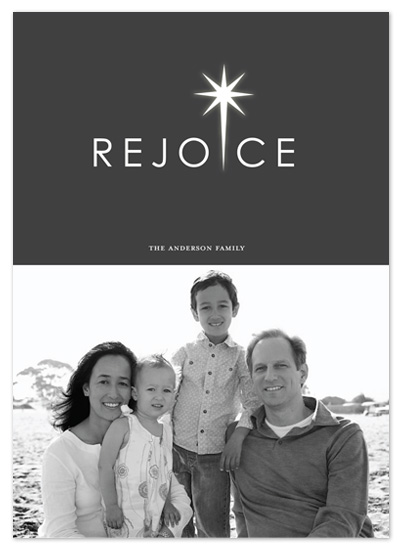 holiday photo cards - REJOICE by Sharon Kay Creative