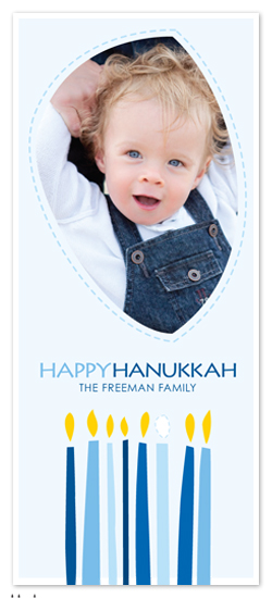 holiday photo cards - Hanukkah Cut Out by Bridget Collins