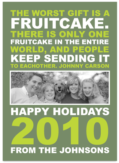 holiday photo cards - Fruitcake by Audrey Clayton