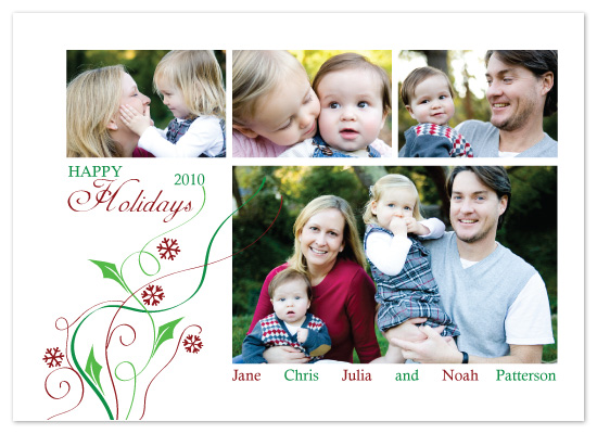 holiday photo cards - Holiday Swirls by melmade
