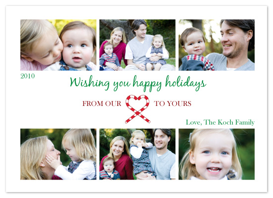 holiday photo cards - Our Candy Cane Heart by melmade