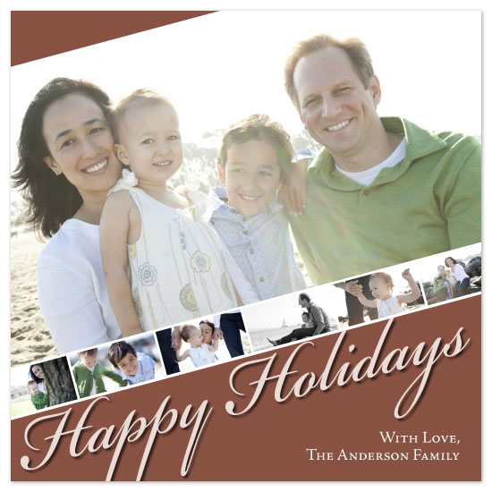 holiday photo cards - Askewed Holiday  by Laura Hancko