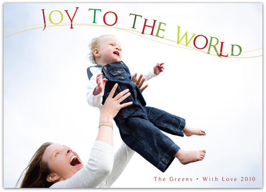 holiday photo cards - Joy To The World by Everyday Greeting