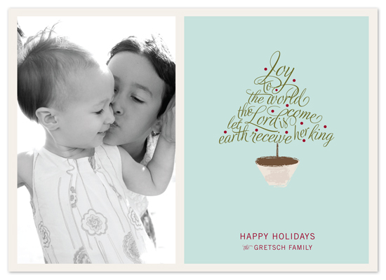 holiday photo cards - joy to the world by Carrie Eckert