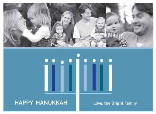 holiday photo cards - a Bright Hanukkah by Red Turtle