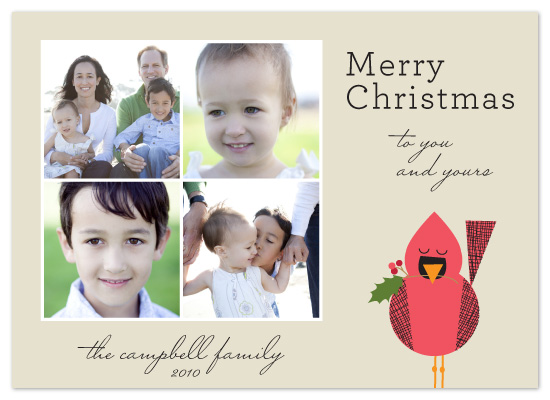holiday photo cards - Happy Cardinal by Alison Michael
