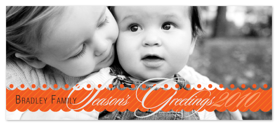 holiday photo cards - Dotted Season's Greetings by Lizzy B Loves