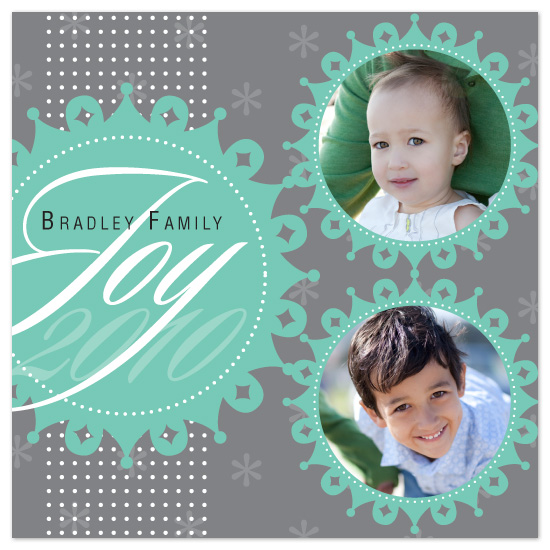holiday photo cards - Joyous Snowflakes - Double by Lizzy B Loves