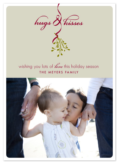 holiday photo cards - Hugs & Kisses by Carrie ONeal