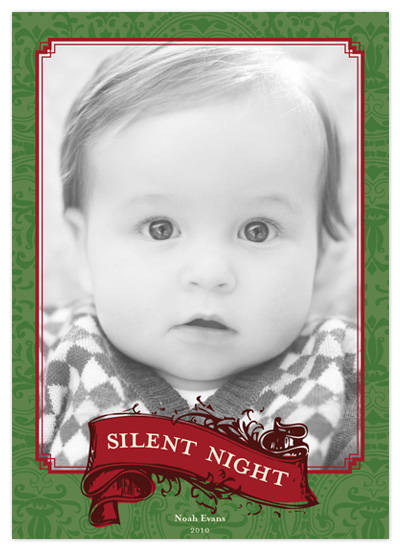holiday photo cards - Silent Night by Amanda Claybrook