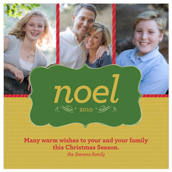 holiday photo cards - Noel by Amanda Claybrook