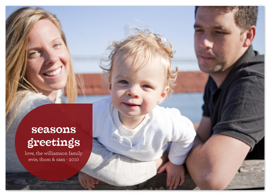 holiday photo cards - mod drop by Waui Design