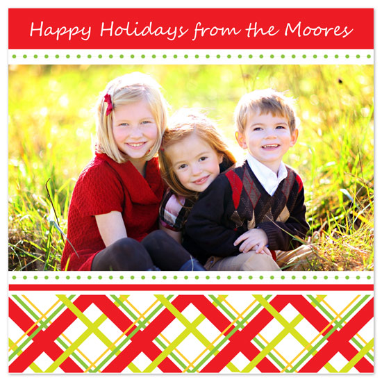 holiday photo cards - Holiday Plaid by Jennifer C