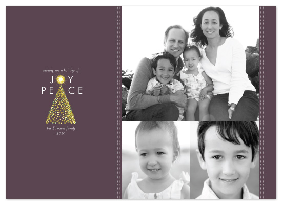 holiday photo cards - Tree of Joy by Coco and Ellie Design