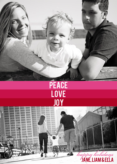 holiday photo cards - Peace, Love & Joy by Simply Paige