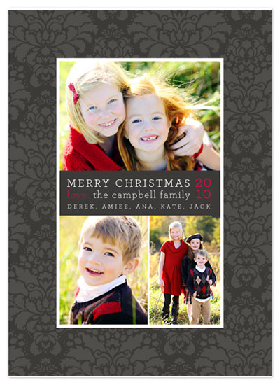 holiday photo cards - Damask Frame by Jill Means