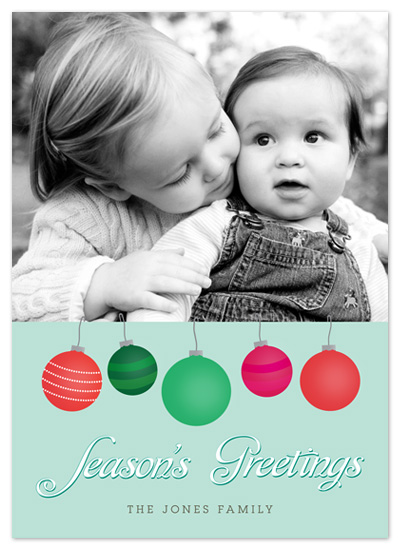 holiday photo cards - Ornamental Greetings by Jennifer Rogers