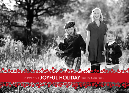 holiday photo cards - Cranberry Joy by Aspacia Kusulas