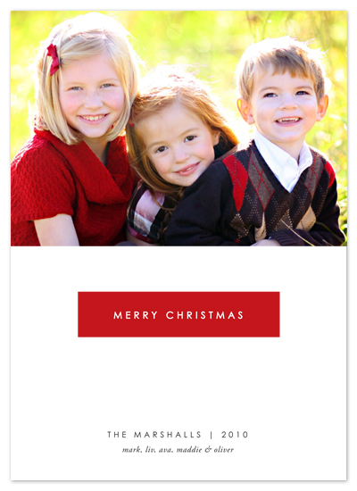 holiday photo cards - Merry Red by Alston Wise