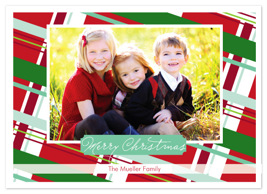 holiday photo cards - very merry plaid by Katie Leggitt