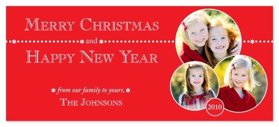 holiday photo cards - Snow Dots by Laura Hancko