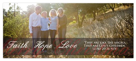 holiday photo cards - Faith Hope Love by Caitlin Afton