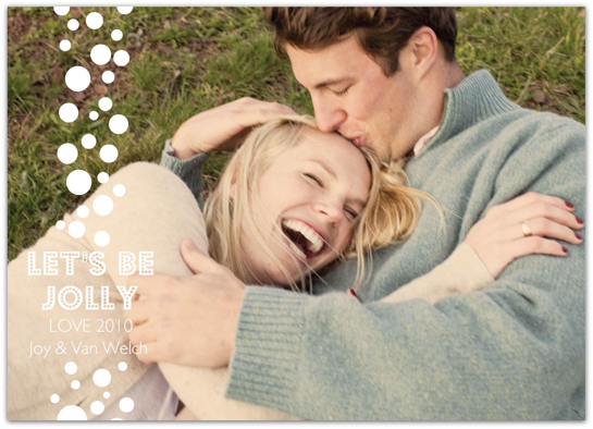 holiday photo cards - Jolly Bubble by Everyday Greeting