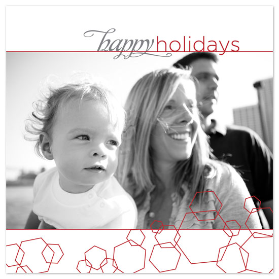 holiday photo cards - Holiday Hexagons by Bekka Palmer