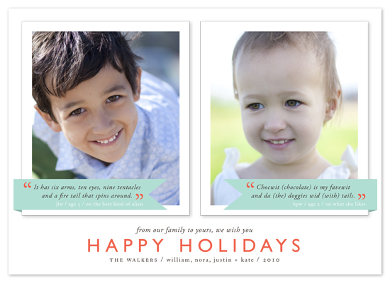 holiday photo cards - Holiday Thoughts by Alston Wise
