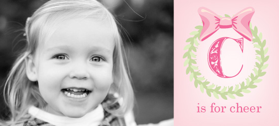 holiday photo cards - C is for Cheer by Kelly Solheim