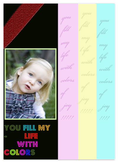 holiday photo cards - this holiday - you bring color to my life by Pranshu Kumar Chaudhary