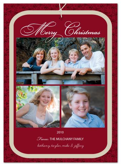 holiday photo cards - Gift Christmas Tag by Bella Expressions-Linda Birtel