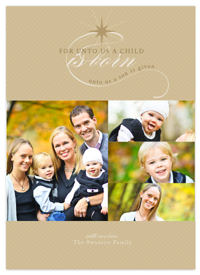 holiday photo cards - A child is born by SunnyJuly