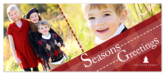 holiday photo cards - Red Argyle by Tassi Olive