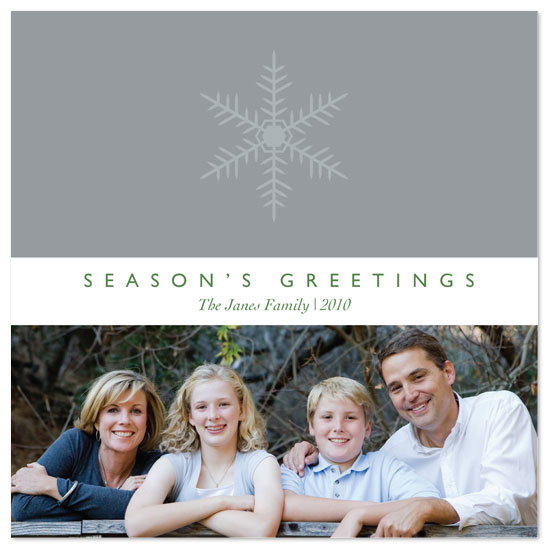 holiday photo cards - Simple Snow by Beverly Surratt