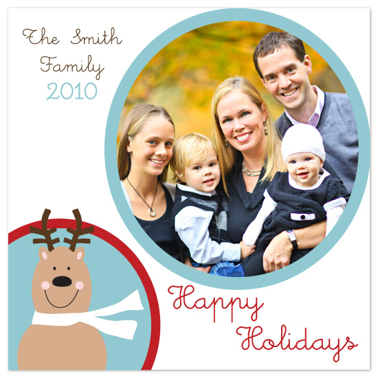 holiday photo cards - Jolly Reindeer Greetings by Sarah-fina