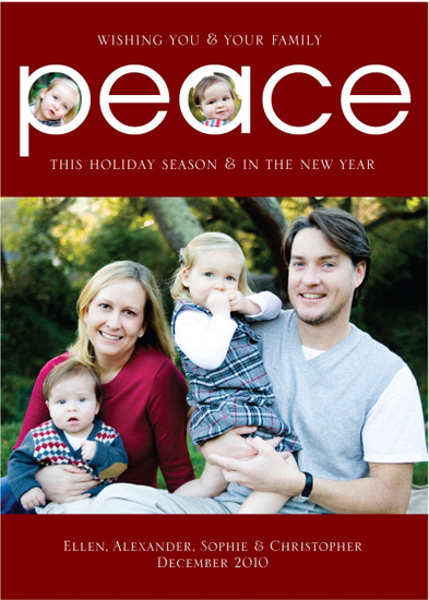holiday photo cards - Peace by Posh Peacock
