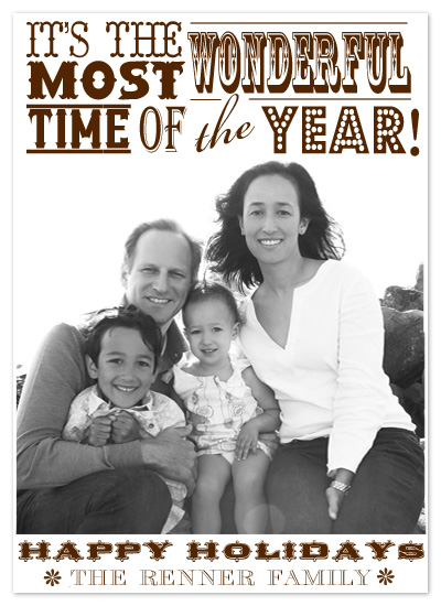 holiday photo cards - Holiday Playbill by Epitome by Renner Design