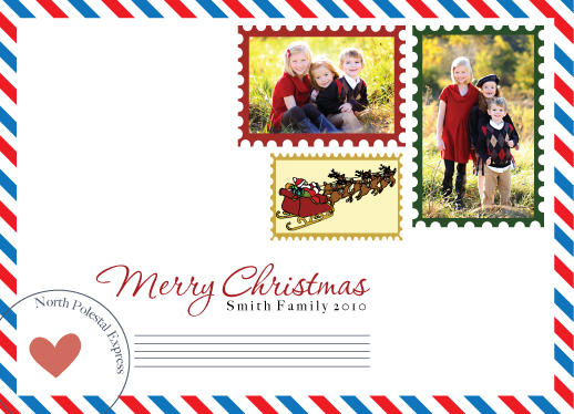 holiday photo cards - Christmas Letter by Seaside Invitations