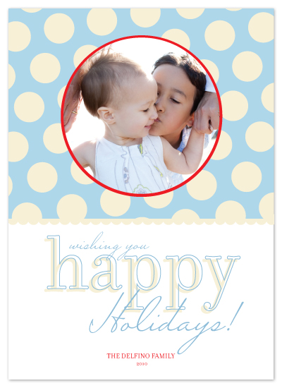 holiday photo cards - happy dots by Katie Leggitt