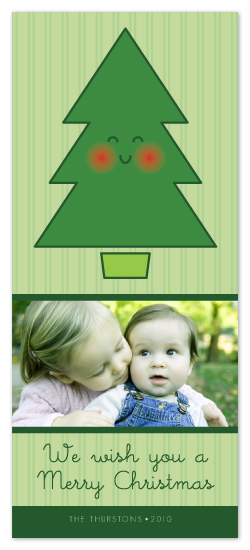 holiday photo cards - Happy Tree by Tassi Olive