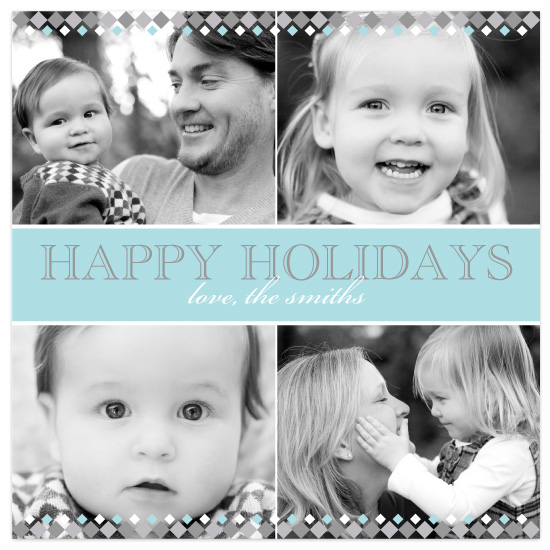 holiday photo cards - Silver Diamonds by Audrey Clayton