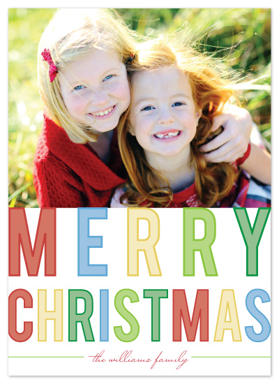 holiday photo cards - bright lights merry by Katie Leggitt