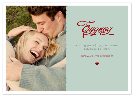 holiday photo cards - JOYEUX NOËL + eggnog by Emily Ranneby