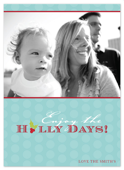 holiday photo cards - Happy Holly Days by Paperview Designs