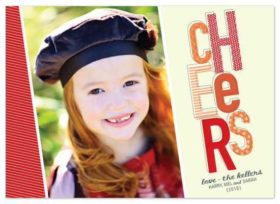 holiday photo cards - happy cheers by Stacey Day