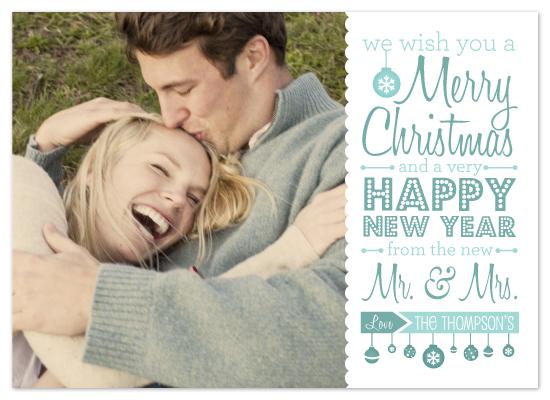 holiday photo cards - Mr. & Mrs. by Amanda Radziercz